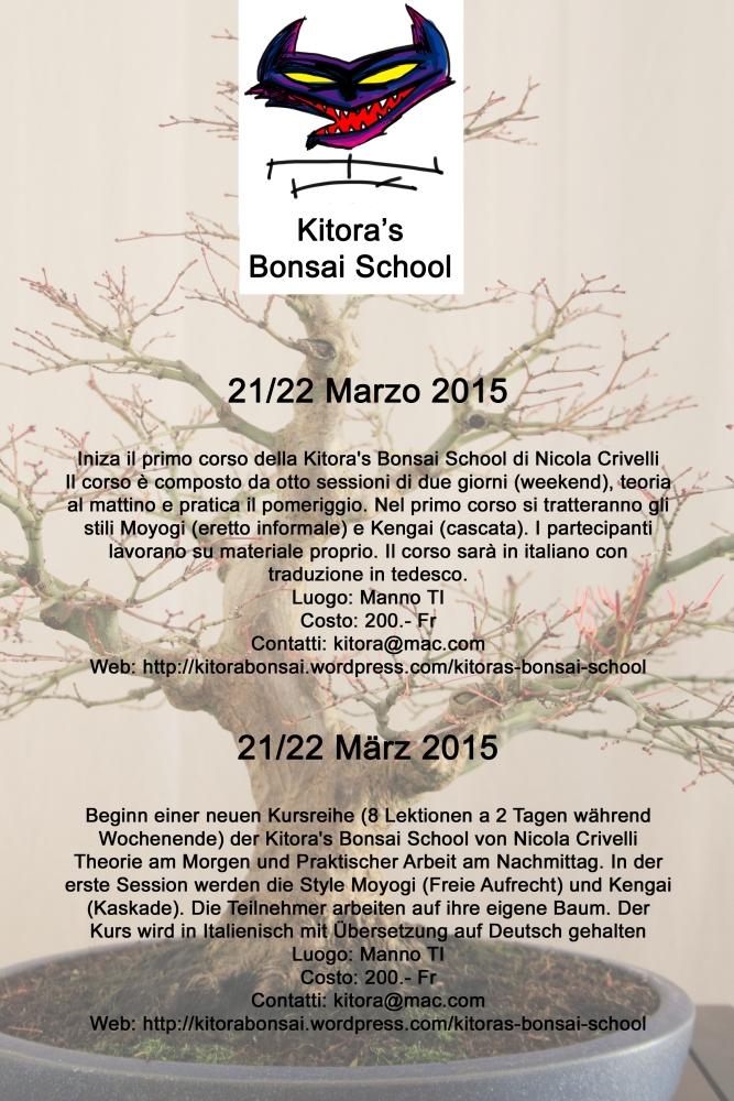 Programma del primo corso della Kitora's Bonsai School (2/6)